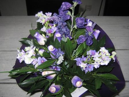 Gemengd boeket paars