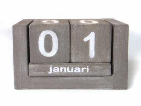 Kalender klein taupe