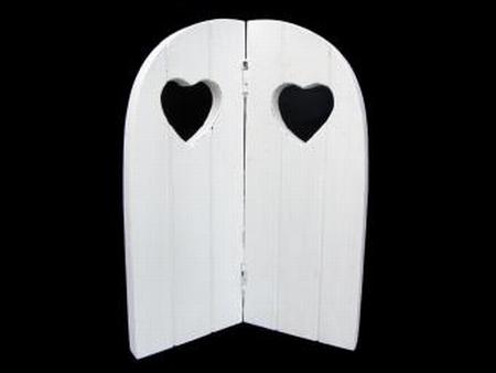 Tweeluik hart white
