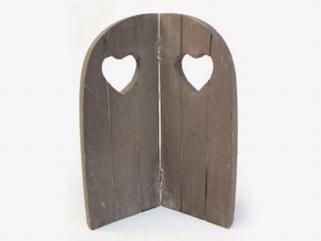 2 luik hart taup (hout)