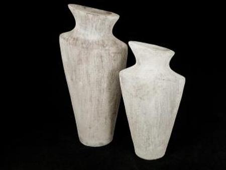 Pot taup/white 40 cm
