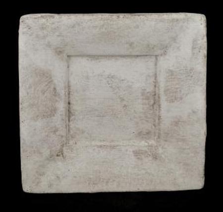 Schaal vierkant taup/white 30 cm