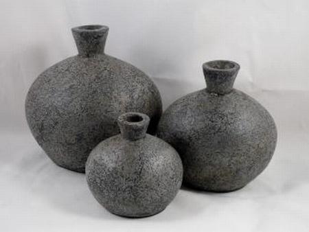 Pot stone grey 15 cm