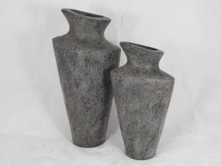 Pot stone grey 50 cm