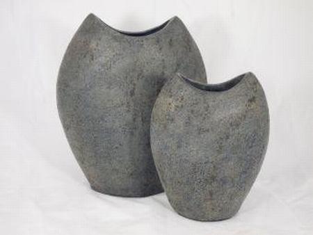 Pot stone grey 33 cm