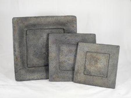 Schaal vierkant stone grey 30 cm