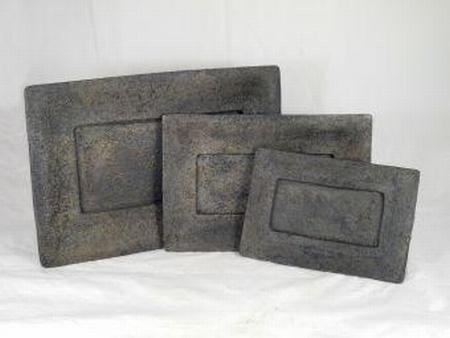 Schaal rechth.stone grey 29 cm
