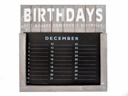 Verjaardagskalender taup 35 cm