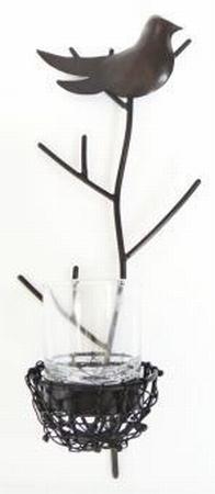 Vogelnest waxh.hangend + glas 30 cm