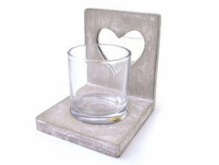 Waxh.hart spiegel +glas taup