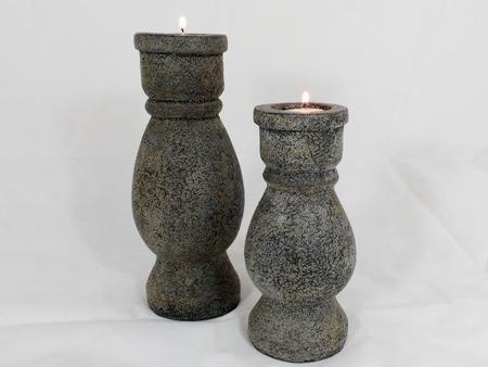 Kandelaar Stone grey 25 cm