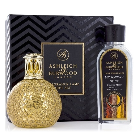 Golden Orb Fragrance Lamp & 250ml Moroccan Spice Oil