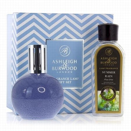 Blue Speckle Fragrance Lamp + 250ml Summer Rain Oil