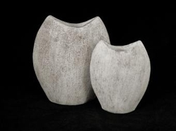 Pot taup/white 33 cm