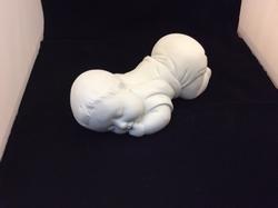 Baby billen omhoog groot wit