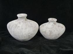 Pot taup/white 28 cm